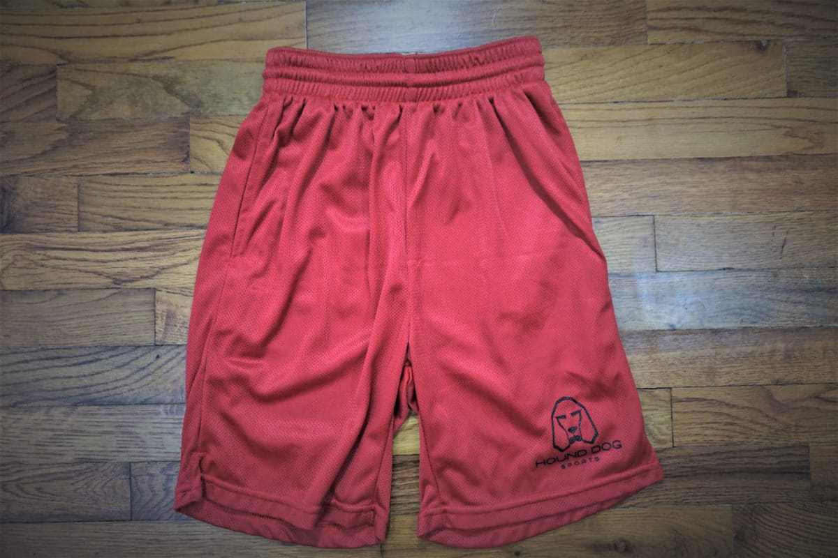 Hound Dog Sports Athletic Mesh Shorts Red