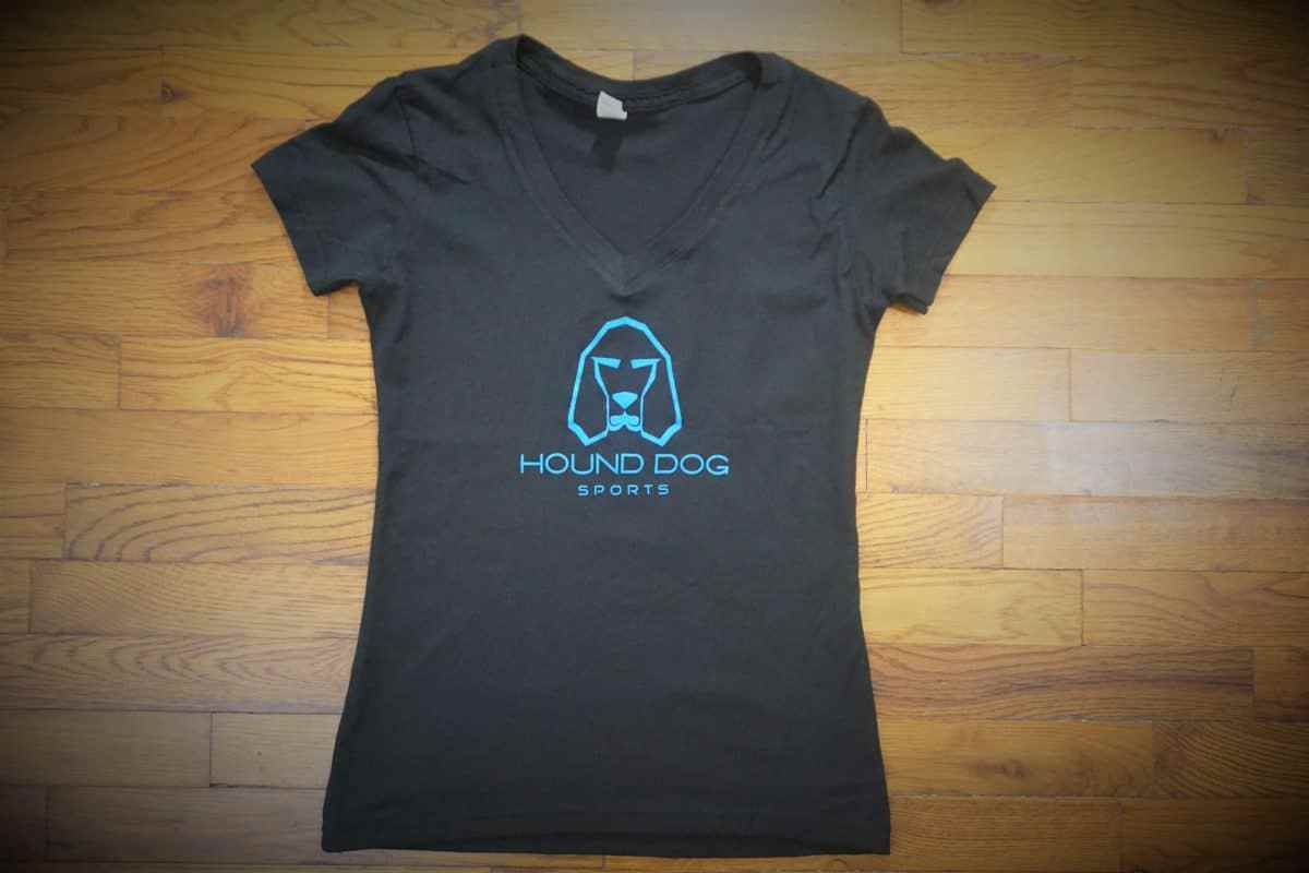 Hound Dog Sports Ladies V-Neck Black-Blue
