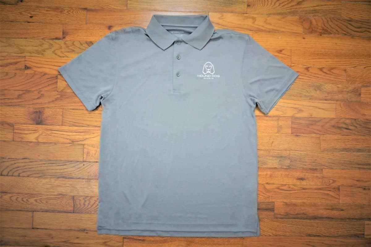 Hound Dog Sports Polyester Collared Shirt Gray