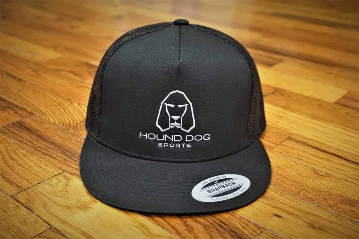Hound Dog Sports Trucker Style Mesh Snapback Hat Black